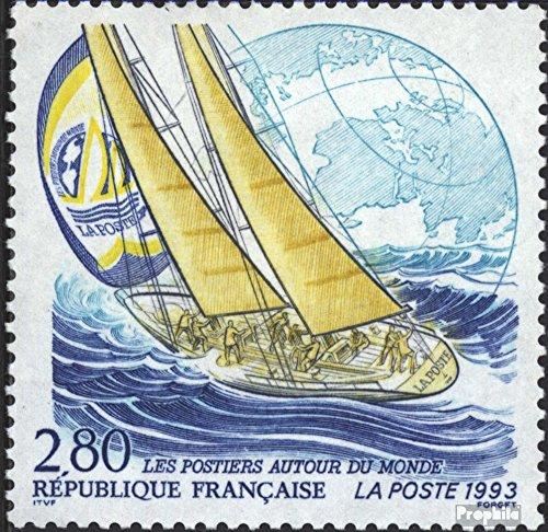 Prophila Collection Frankreich 2977 (kompl.Ausg.) 1993 Segeljacht (Briefmarken für Sammler) Seefahrt